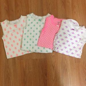 4 sleeveless girls body suits